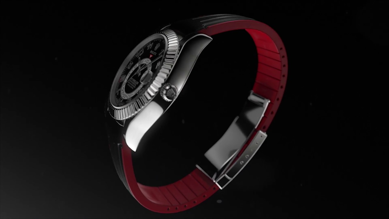 Rubber B Rolex Watch Band For Sky Dweller Youtube