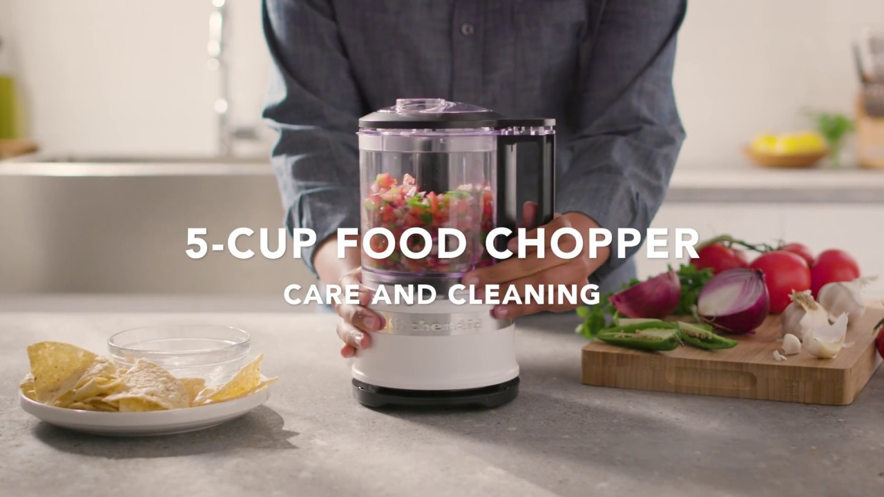 How to Care for and Clean the New 5 Cup Food Chopper | KitchenAid® 5 Cup  Food Chopper