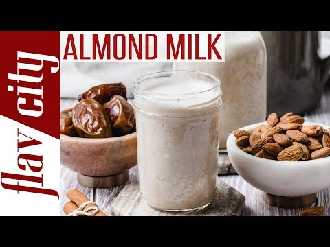 How To Make Homemade Almond Milk - Dessi's Kitchen Basics