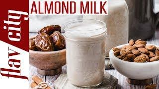 How To Make Homemade Almond Milk - Dessi's Kitchen Basics