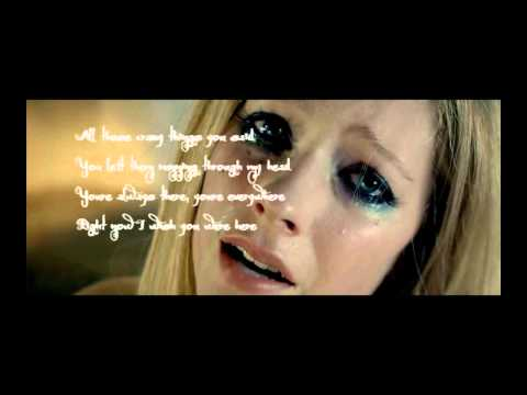 Avril Lavigne - Wish you were here - Lyrics [HD]