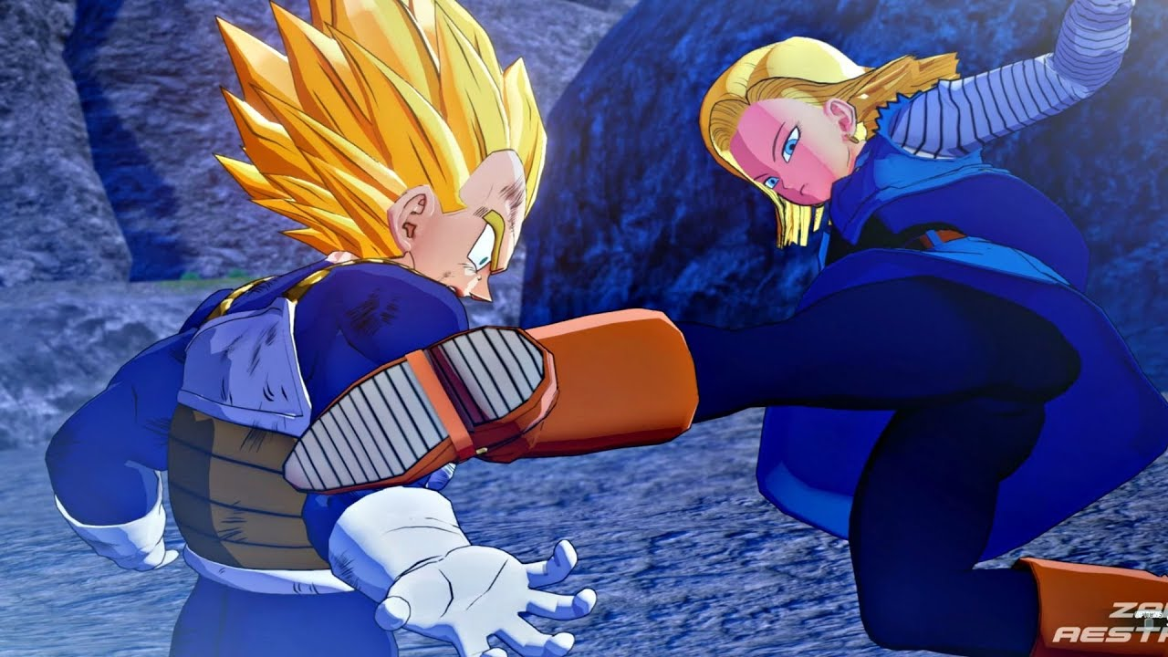 Dragon Ball Z Kakarot Super Saiyan Vegeta Vs Android 18 Scene Dbz Kakarot 2020 Ps4 Pro Youtube