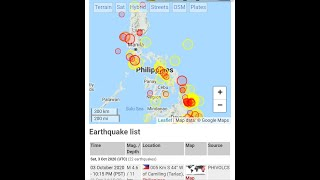 Earthquake breaking news October 3,2020. Description link below for the earthquake locations.