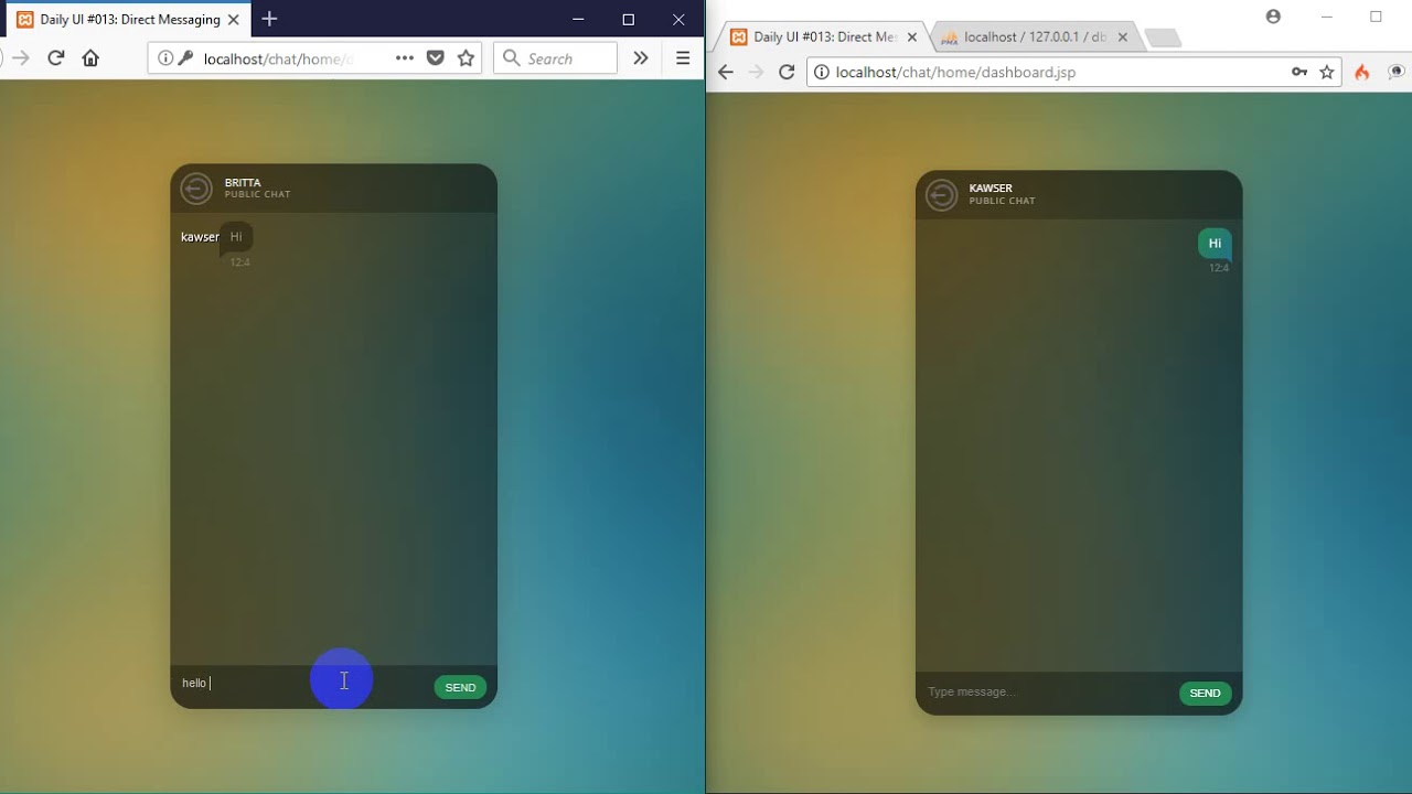 Codeigniter Realtime Chat Application