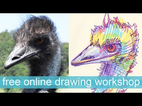 Free online drawing workshop for artists and amateurs