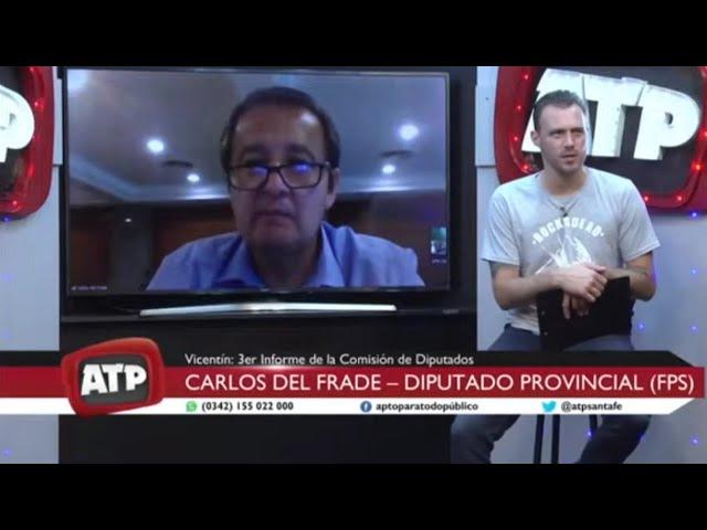 Carlos Del Frade | Presentación del tercer informe legislativo sobre Vicentín