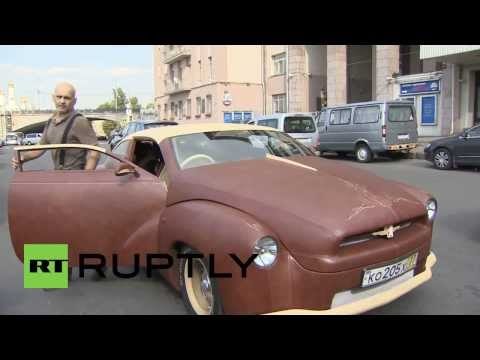 Russia: €2 million leather lowrider boasts Bison style