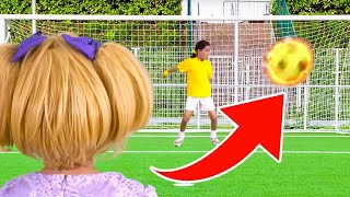 Princess Soccer Final Goes To Sudden Death! | Kiddyzuzaa - Princesses In Real Life