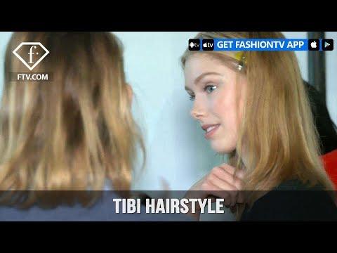 New York Fashion Week Fall/Winter 18 19 - Tibi Hairstyle | FashionTV | FTV