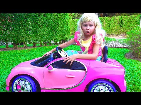 Alice Smile Ride-On Barbie car and Plays with Johny