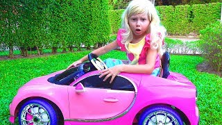 Alice Pretend Barbie and Ride-on Car for Princess