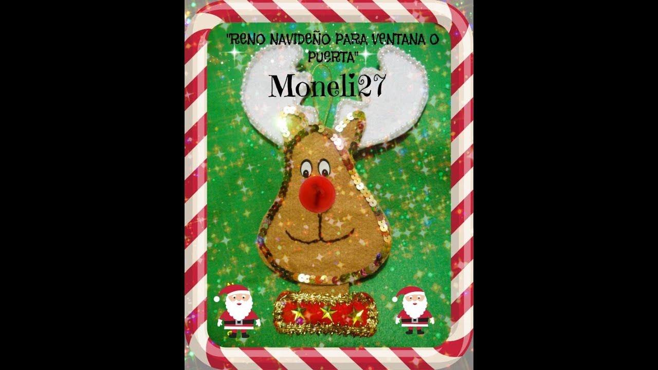 Reno navide o para decorar ventana puerta youtube for Decorar las puertas en navidad