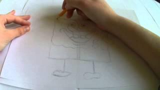 МК Как нарисовать Спанч Боба(До недавнего времени, мы думали,что персонажи мультфильма очень трудно нарисовать,но это оказалось не так...., 2016-02-21T16:16:28.000Z)