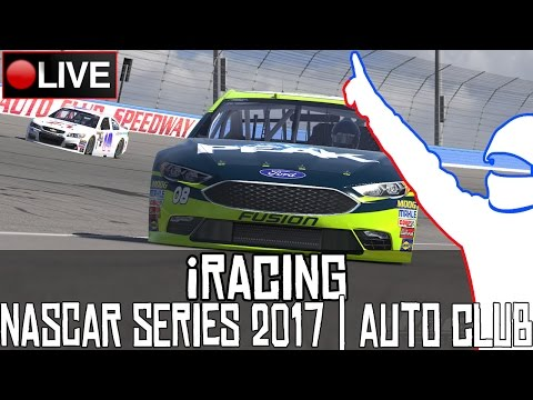 NASCAR iRacing Series 2017 || Auto Club Speedway || LIVE
