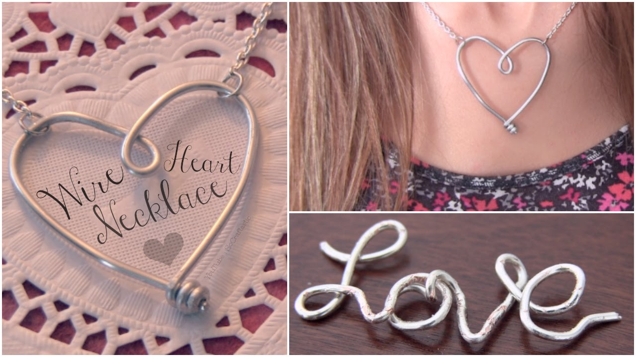 DIY WIRE HEART NECKLACE Pendant - Jewelry Making - How To ...