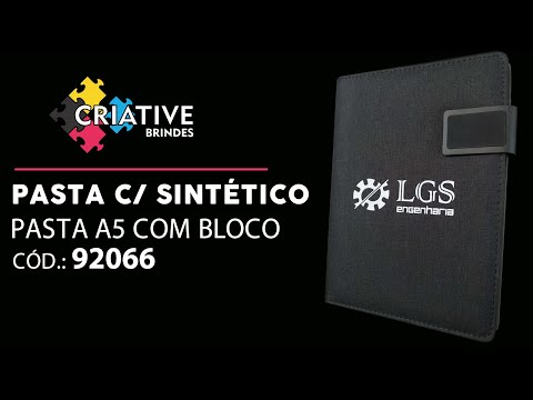 Pasta A5 Couro Sintético 92066 Personalizada