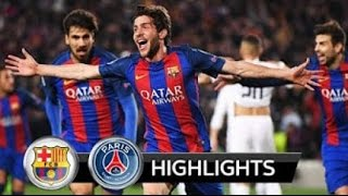 vuclip Barcelona vs Paris Saint Germain 6-5   All Goals in Champions League 2017