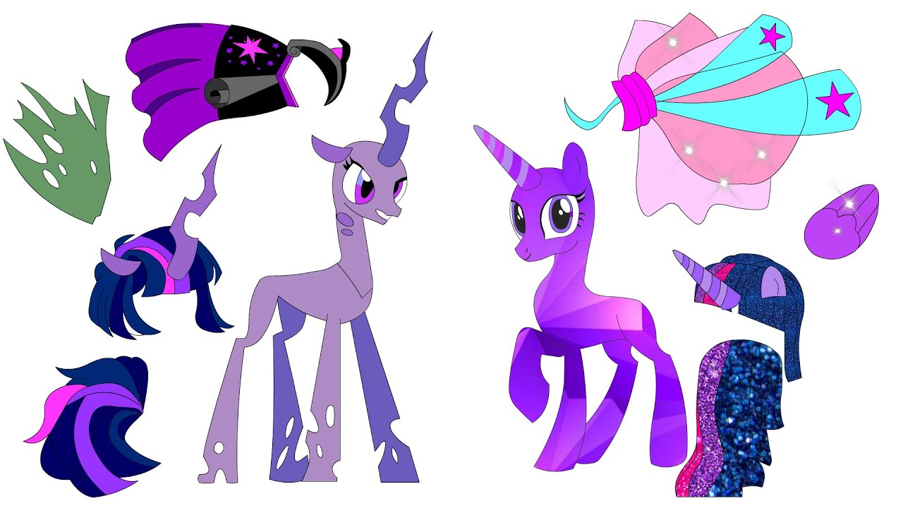 Mlp Crystal Ponies vs Queen Chrysalis - What you can do using just paper
