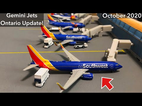 *BRAND NEW* Gemini Jets Airport Update Ontario International Airport! - October 2020