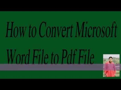 How To Convert Microsoft Office 2003/2007 To PDF  !! Office Word File To PDF File