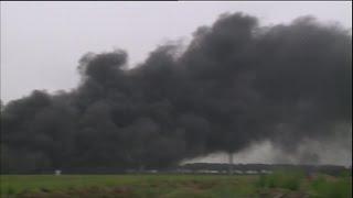 Grote brand in bedrijfshal aan Industrieweg in Waalwijk