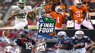 2019 NCAA March Madness Final Four Matchups in Football