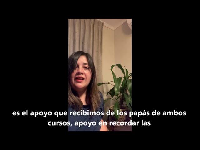 Palabras de nuestra apoderada de 1°basico, Carolina Díaz, Pumahue Chicureo.