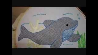 bordado fantasa delfin terminado