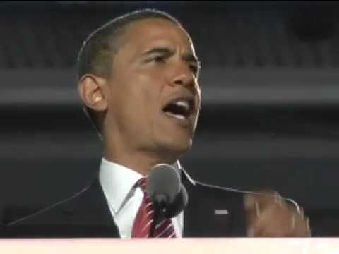 Barack Obama at the 2008 DNC