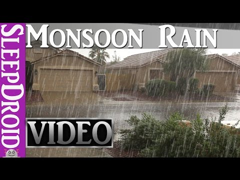 ►10 Hours of Rain in the Summer, Monsoon RAIN & THUNDER ~HD VIDEO (Nature's Relaxing Sleep Music)