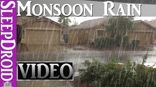 ►10 Hours of Rain in the Summer, Monsoon RAIN & THUNDER ~HD VIDEO (Nature