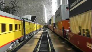 Indoor g scale Cab Ride with Challenger runby