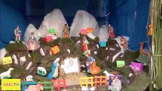 Christmas Crib(Snow Mountains with water falls)