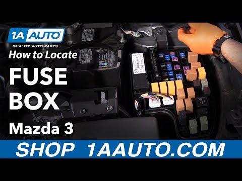 [DIAGRAM_3ER]  How to Locate Fuse Box 13-19 Mazda 3 - YouTube | 2015 Mazda 3 Fuse Diagram |  | YouTube