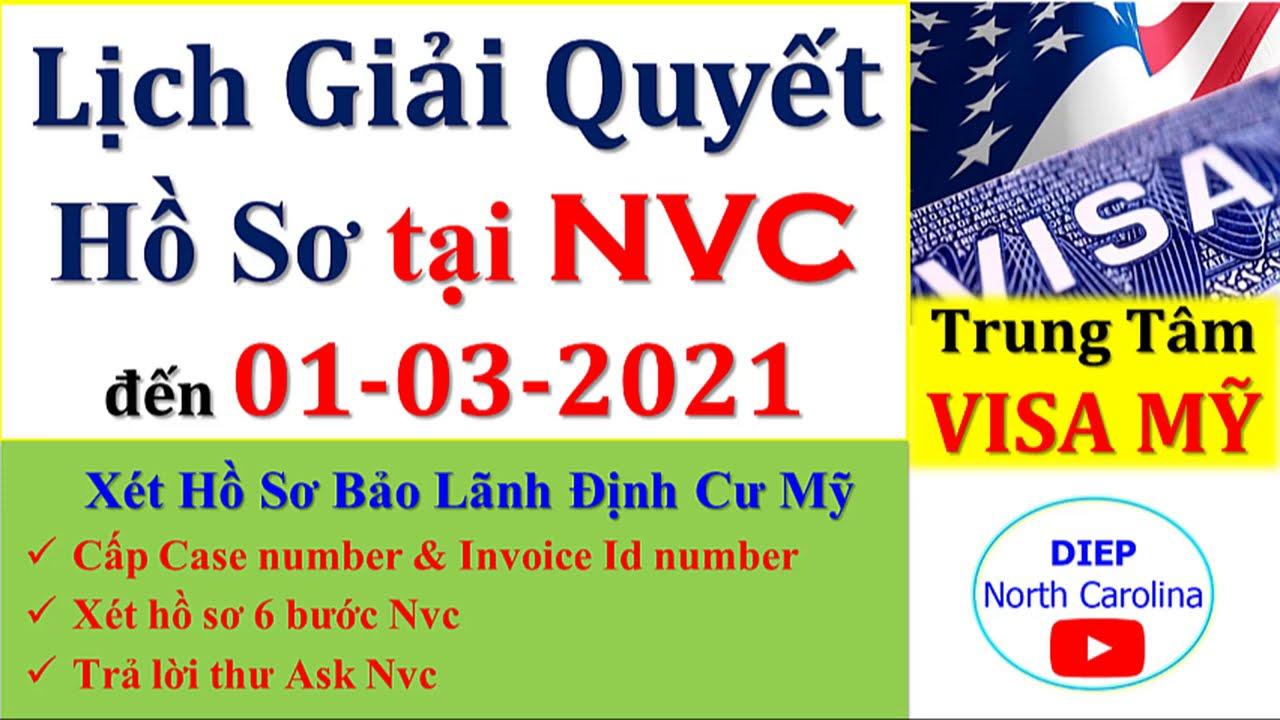 Lịch Giải Quyết Hồ Sơ Định Cư MỸ tại NVC || Cập nhật 01 -03 -2021 [NVC Timeframes MAR 01]