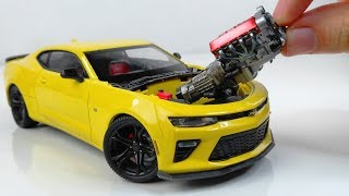 Hypnotic Building of a Perfect Tiny Camaro 1LE Step by Step  - Bumblebee Transformers