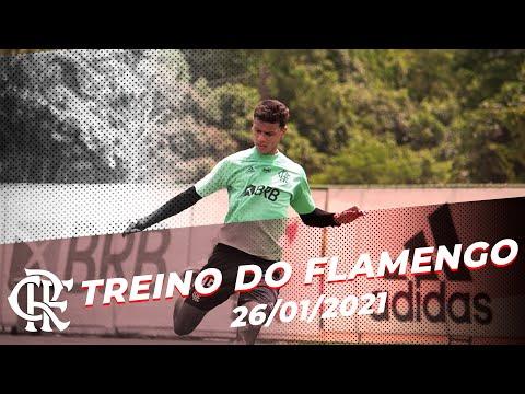 TREINO FLAMENGO – Elenco se reapresenta no Ninho do Urubu