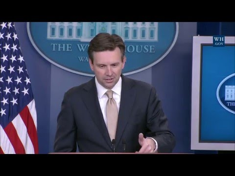 5/18/16: White House Press Briefing