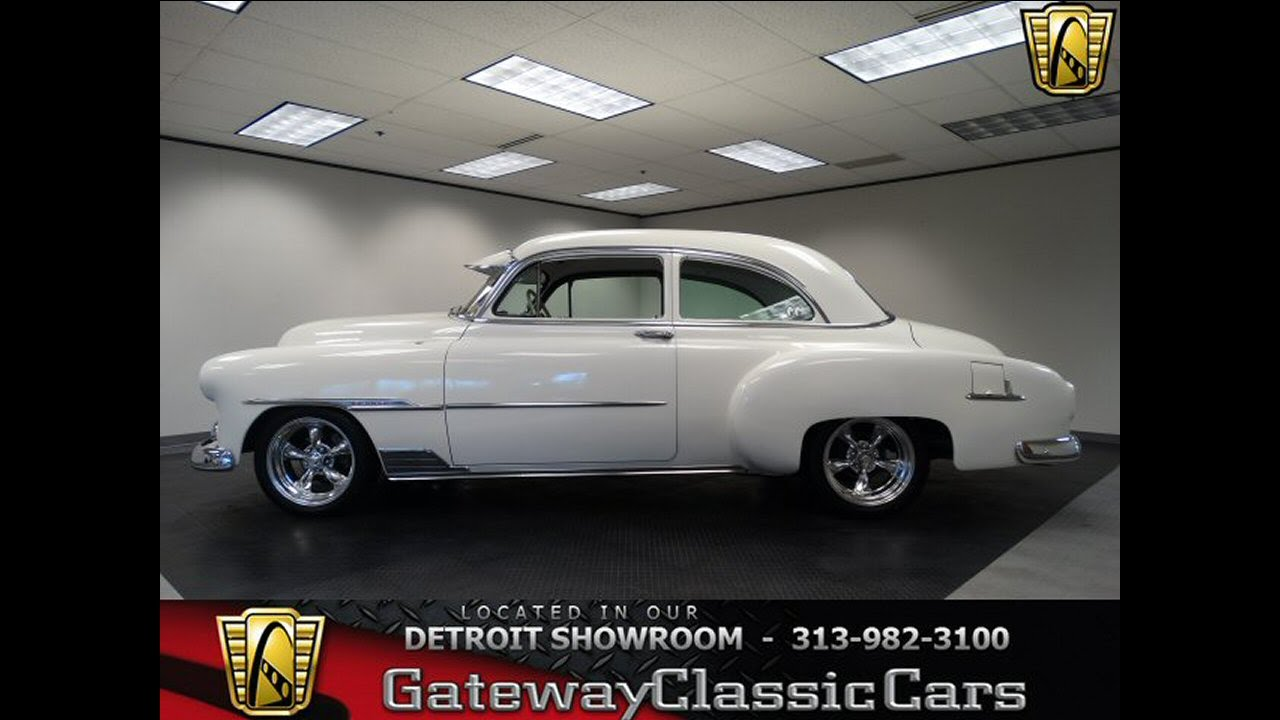 344 Det 1951 Chevrolet Styleline Deluxe Youtube Chevy 2 Door Sedan For Sale
