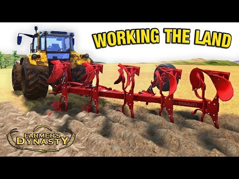 FIRST TIME USING THE BIG PLOUGH | Farmer's Dynasty Episode 33