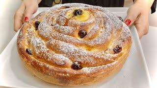 PAN BRIOCHE SOFFICISSIMO DA COLAZIONE Crema e Amarene ☕️ Breakfast Brioche Bread