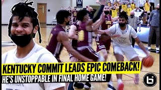KENTUCKY COMMIT LEADS EPIC COMEBACK! DOWN 14 LATE, BRYCE HOPKINS TAKES OVER FINAL HOME GAME!