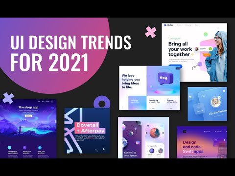 Ui Design Trends For 2021 Web Design Inspiration Youtube