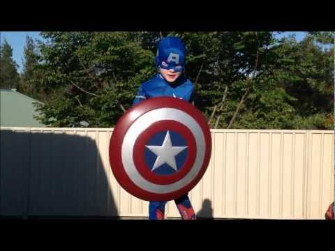 Captain America and Superman vs. Afro Mama