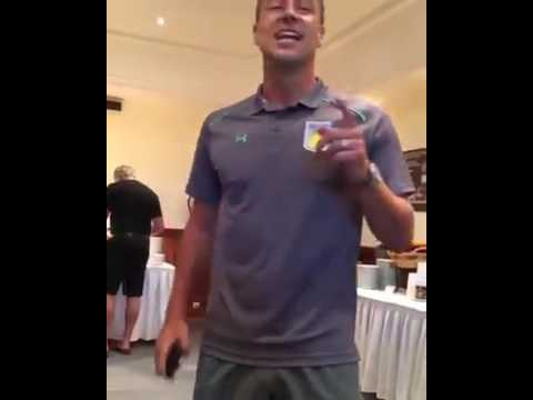 John Terry singing ,,Stand by me,, on his Aston Villa initiation dinner