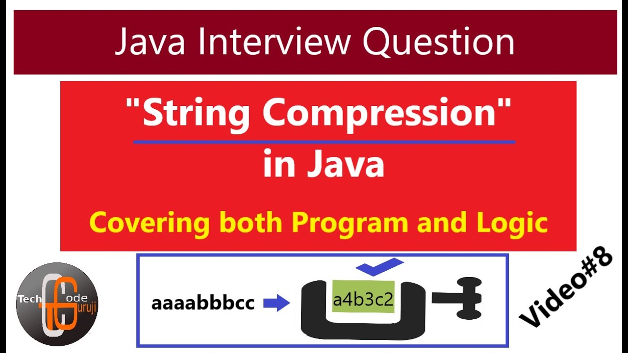 Interview Question - String Compression | Java