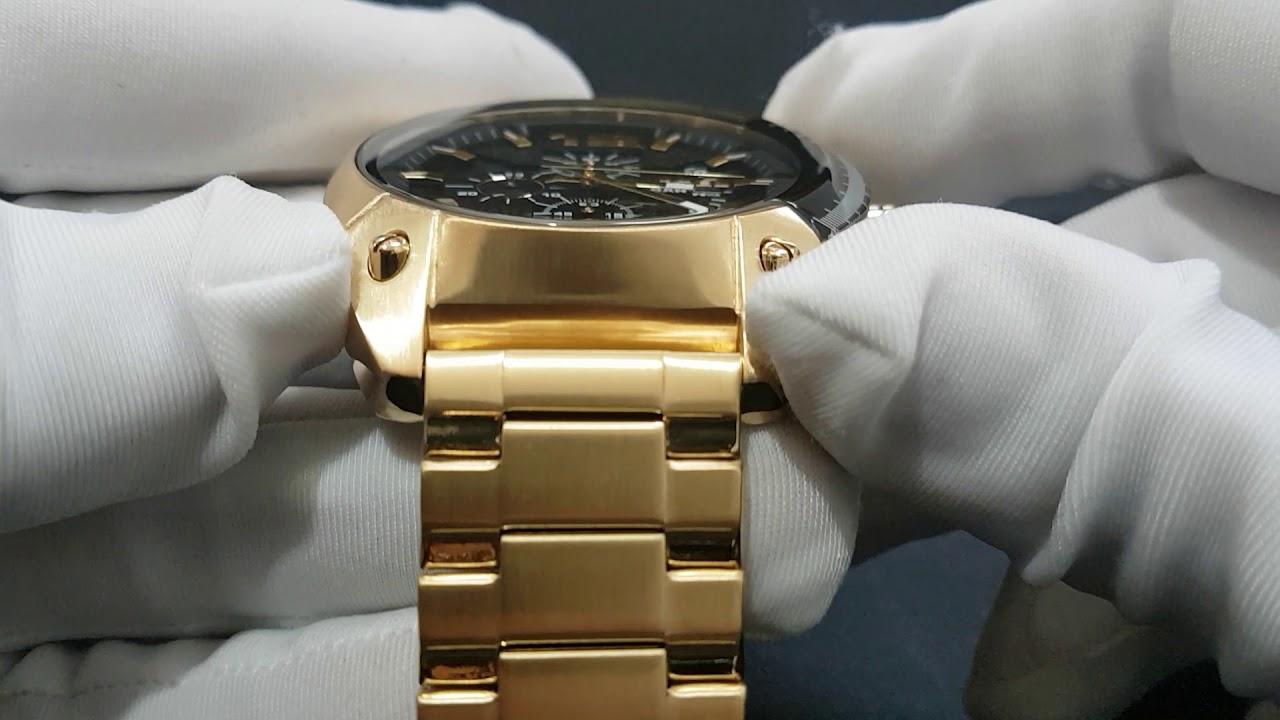 beb741d9562 Relógio Diesel DZ4342 Overflow Banhado a Ouro - YouTube