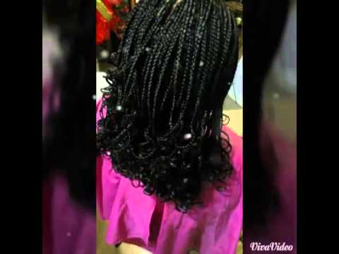 Box Braids With Curly Ends Youtube