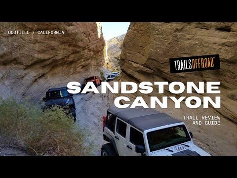 Sandstone Canyon Offroad Trail - Anza Borrego California in 4K UHD