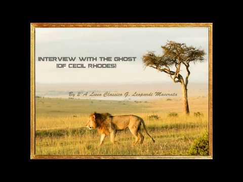 Progetto CLIL: Interview with the ghost (of Cecil Rhodes)